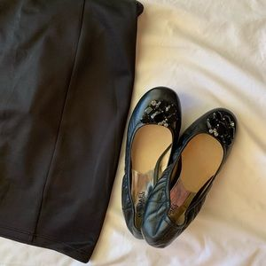 Michael Kors all black flats (NEVER WORN)